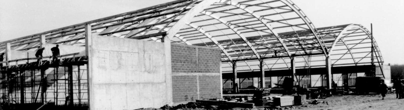 Construction du marché de gros de toues en 1973