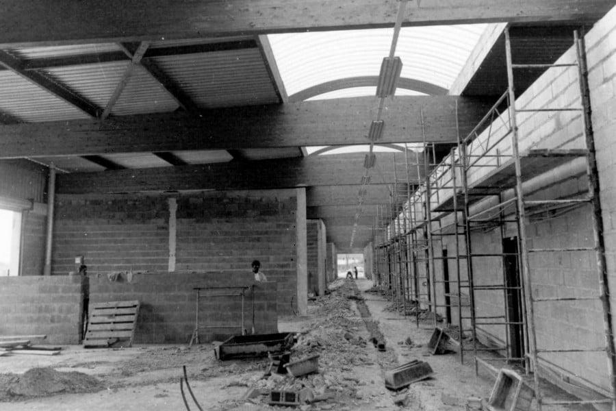 Construction du Marché de Gros de Tours en 1973
